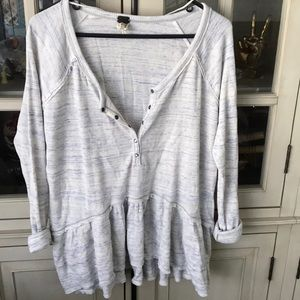 NWT free people Henley shirt